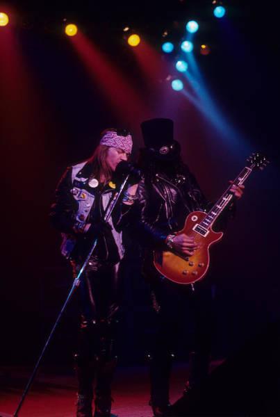 Photograph - Axl Rose And Slash by Rich Fuscia