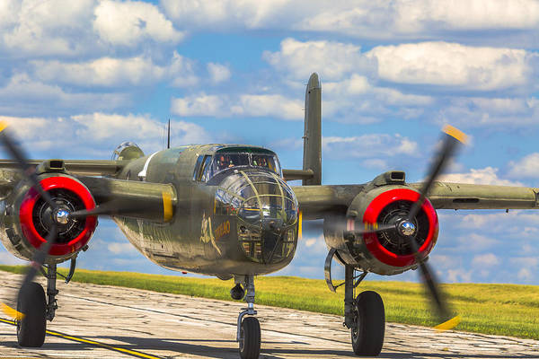 Photograph - B-25 Tondelayo Entering Maps by Jack R Perry