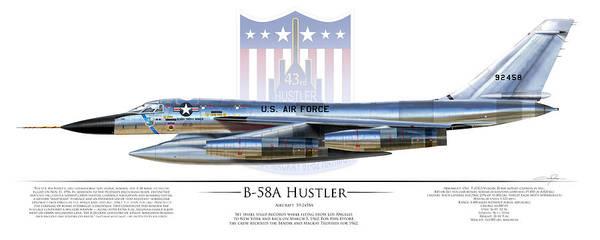 Supersonic Speed Wall Art - Digital Art - B-58a Hustler 59-2458a by Dale Jackson