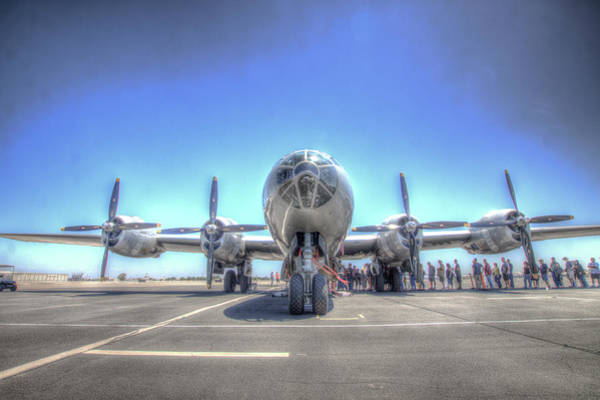 Photograph - B29 Superfortress At Modesto by John King