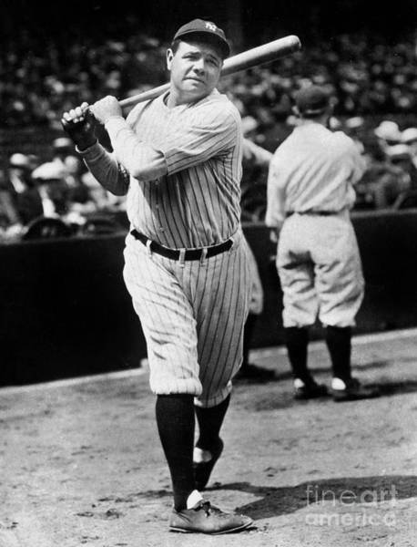 Guy Photograph - Babe Ruth by American School