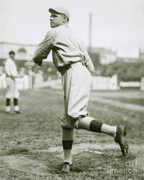 Wall Art - Photograph - Babe Ruth Pitching by Jon Neidert