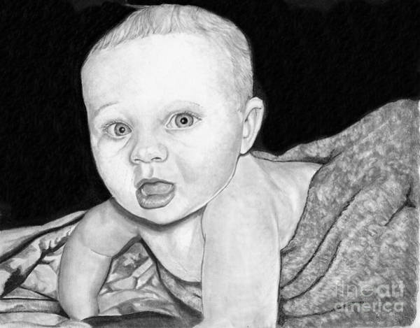 Drawing - Baby by Bill Richards