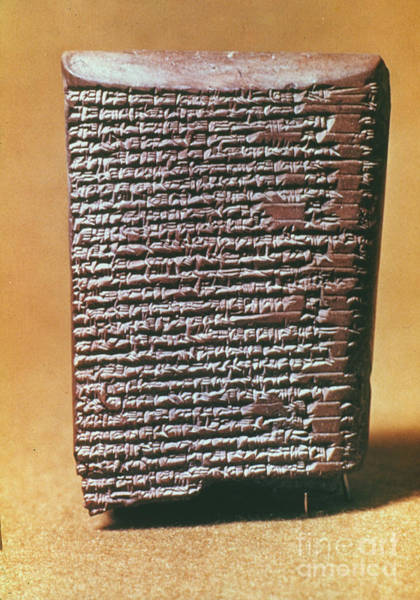Photograph - Babylonian Clay Tablet by Granger