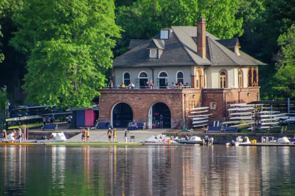 Wall Art - Photograph - Bachelors Barge Club - Boathouse Row Philadelphia by Bill Cannon