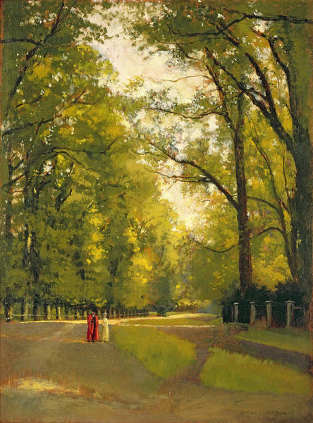 Park Avenue Wall Art - Painting - Backs Of The Colleges Cambridge by Cyrus Johnson