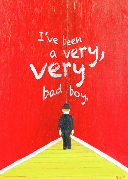 Painting - Bad Boy Greeting Card by Thomas Blood