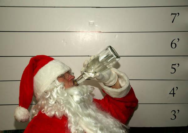 Jolly Holiday Photograph - Bad Santa by Michael Ledray