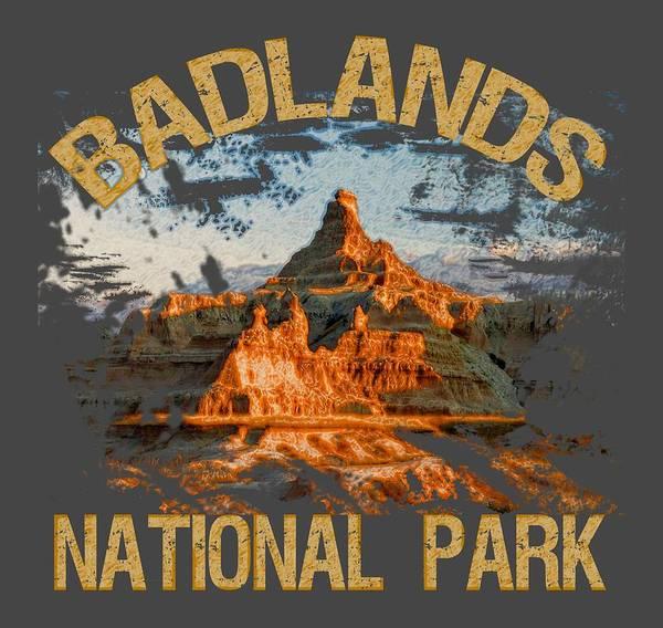 Wall Art - Digital Art - Badlands National Park by David G Paul