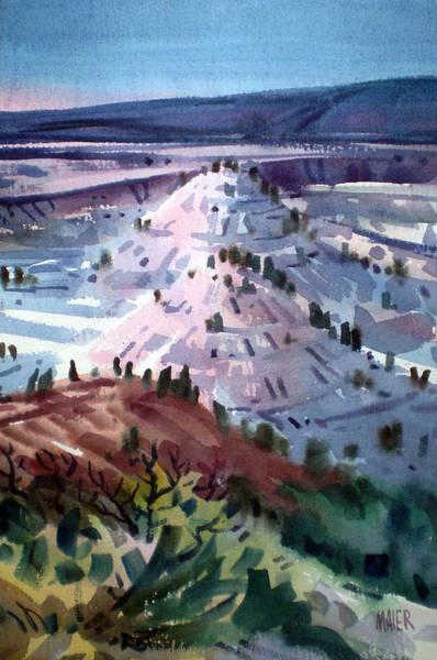 South Dakota Wall Art - Painting - Badlands South Dakota by Donald Maier
