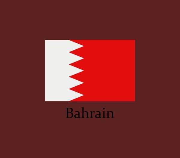 Illustration Digital Art - Bahrain Flag by Marco Livolsi