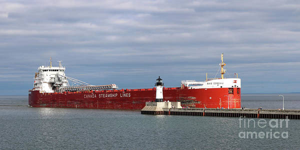 Wall Art - Photograph - Baie Comeau Ship by Lori Tordsen