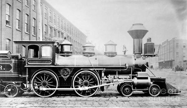 Photograph - Baldwin Locomotive, 1870 by Granger