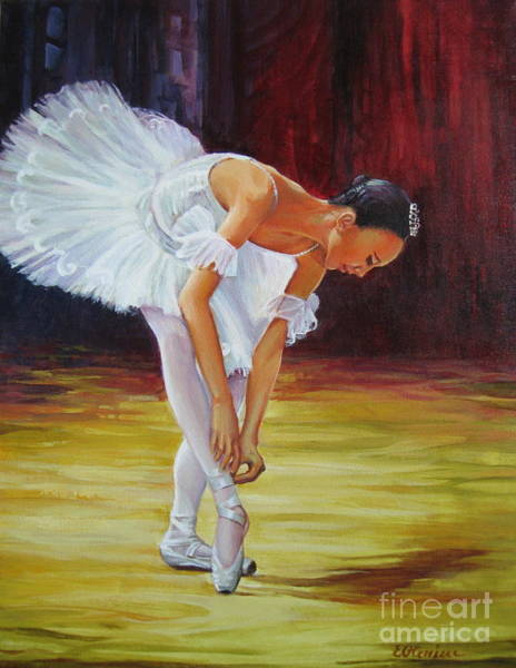 Preparation Painting - Ballerina by Elena Oleniuc