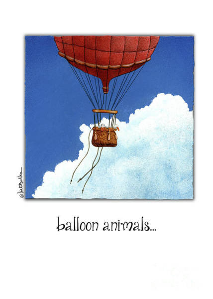 Painting - Balloon Animals... by Will Bullas