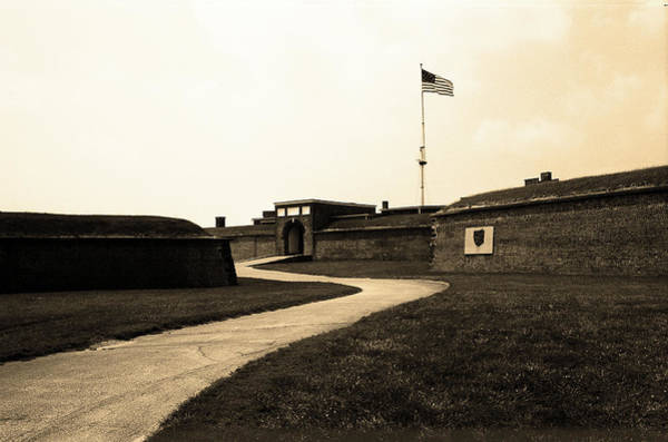 Photograph - Baltimore - Fort Mchenry Winding Path Sepia 2003 by Frank Romeo