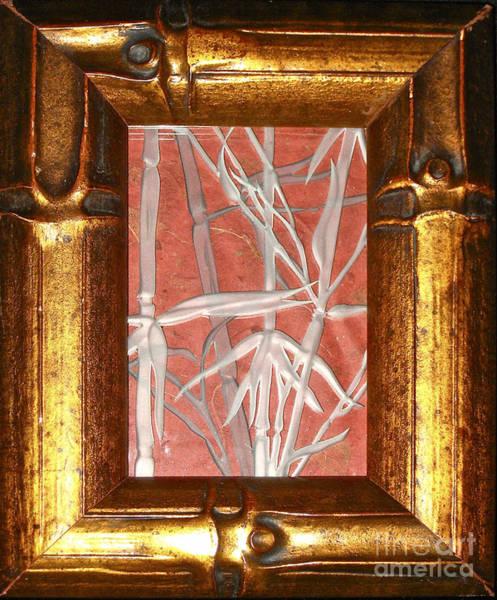 Glass Art - Golden Bamboo by Alone Larsen