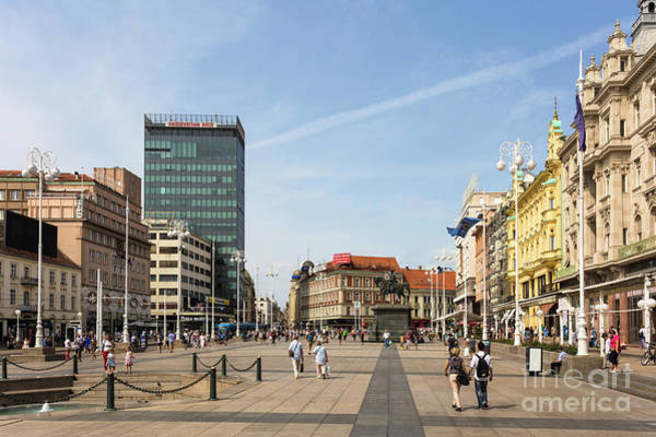 Photograph - Ban Jelacic Square In Zagreb by Didier Marti