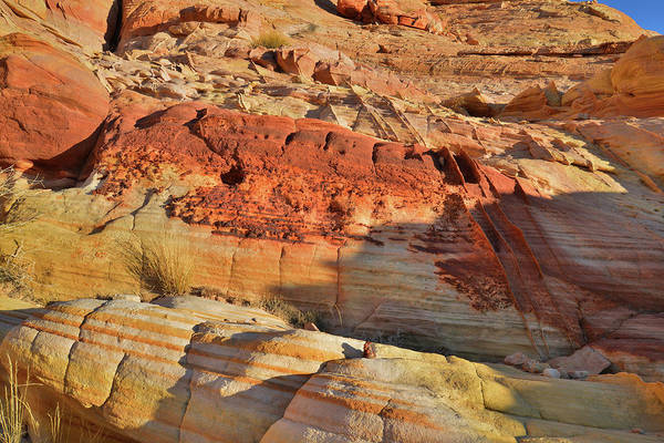 Photograph - Bands Of Color In Wash 3 In Valley Of Fire by Ray Mathis