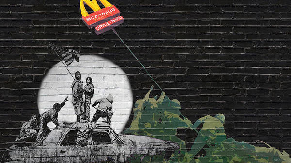 Pop Art Wall Art - Photograph - Banksy - The Tribute - New World Order by Serge Averbukh