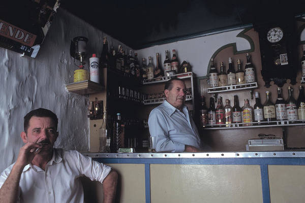 Bar Tender Photograph - Bar In Cacares In Spain by Carl Purcell