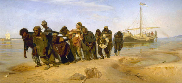 Painting - Barge Haulers On The Volga by Ilya Repin