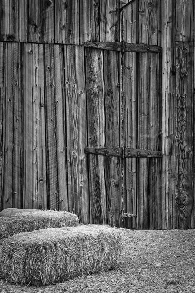 Ghosttown Photograph - Barn Doors And Hay by Susan Candelario