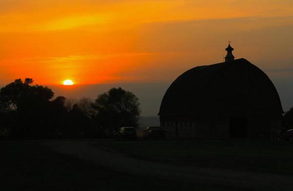 Photograph - Barn Sunset by David Matthews