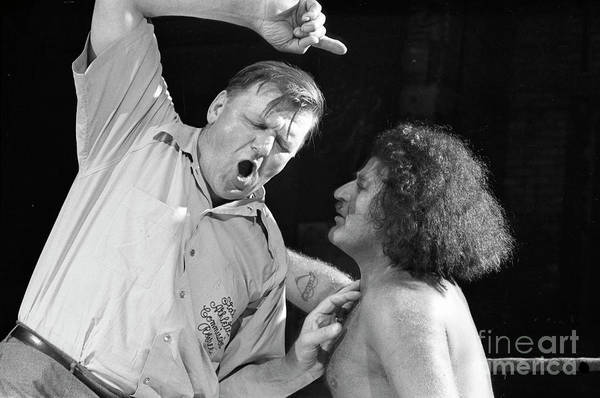 Baron Photograph - Baron Arena, A Wrestler Also Known As Mad Baron And Glamorous Ge by The Harrington Collection