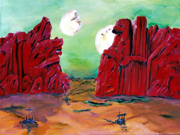Edgar Rice Burroughs Painting - Barsoom by Gail Daley