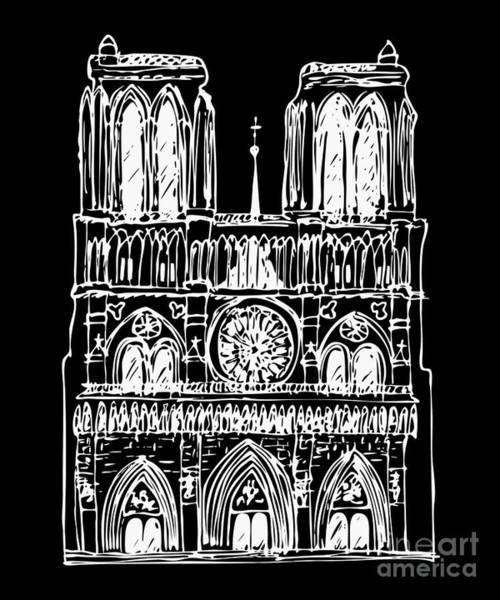 Wall Art - Drawing - Basilica Notre Dame by Michal Boubin