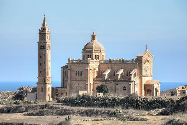 Gozo Wall Art - Photograph - Basilica Ta Pinu - Gozo by Joana Kruse