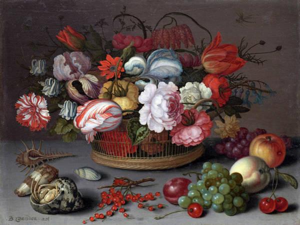 Painting - Basket Of Flowers by Balthasar van der Ast