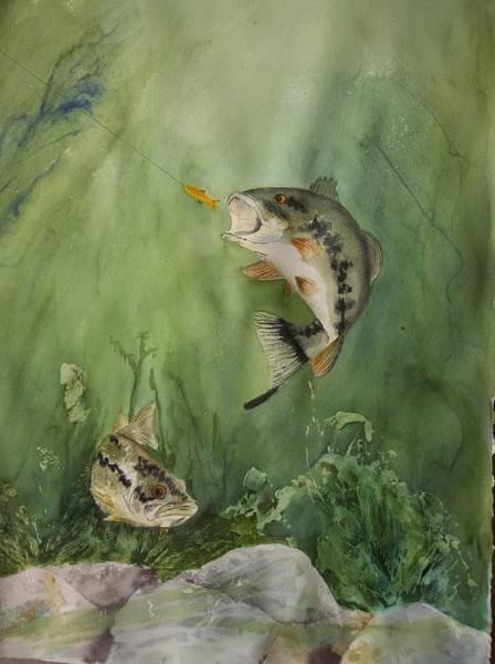 Bass On The Bottom Art Print