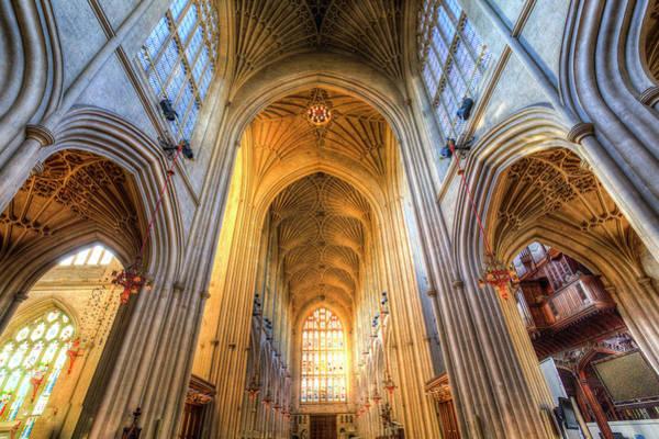 Bath Abbey Photograph - Bath Abbey Architecture  by David Pyatt