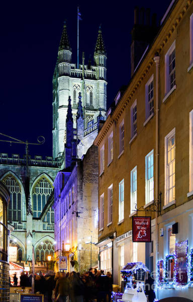 Photograph - Bath Abbey At Night by Colin Rayner