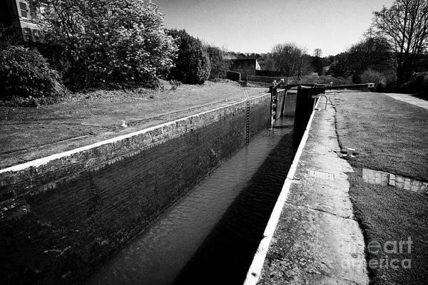 Wall Art - Photograph - Bath Top Lock On The Kennet And Avon Canal Bath England Uk by Joe Fox