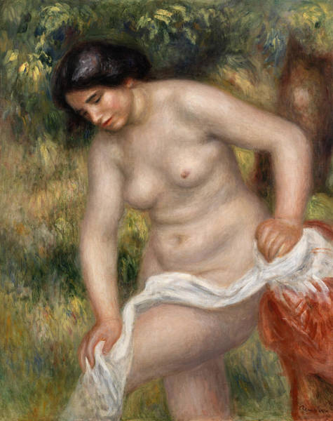 Wall Art - Painting - Bather Drying Herself by Pierre-Auguste Renoir