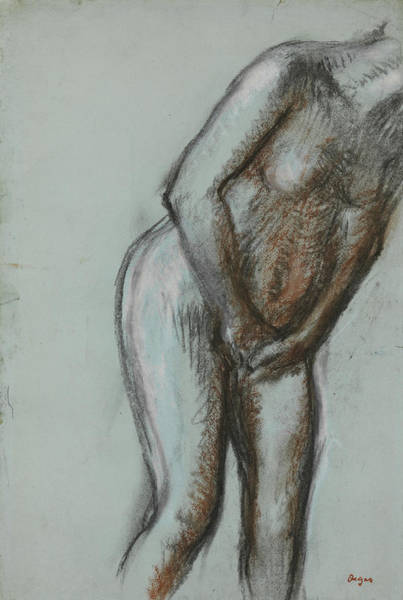 Drawing - Bather  by Edgar Degas