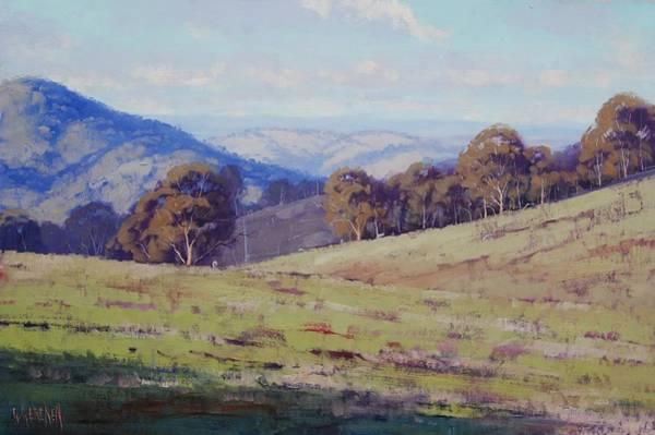 Summer Scene Painting - Bathurst Landscape by Graham Gercken