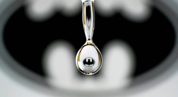 Photograph - Batman Water Drop by Max Neivandt