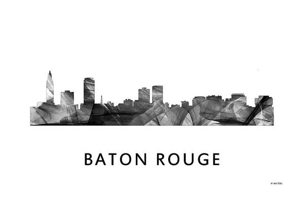 Baton Rouge Digital Art - Baton Rouge Louisiana Skyline by Marlene Watson