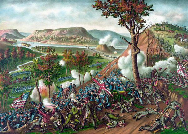 Wall Art - Painting - Battle Of Missionary Ridge by War Is Hell Store
