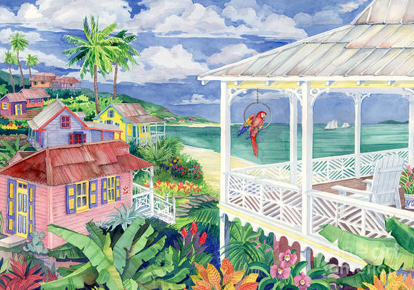 Wall Art - Painting - Bay Caribe by Paul Brent