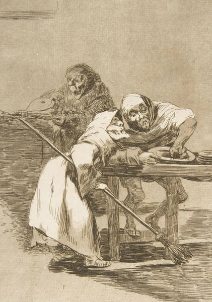 Relief - Be Quick, They Are Waking Up by Francisco Goya