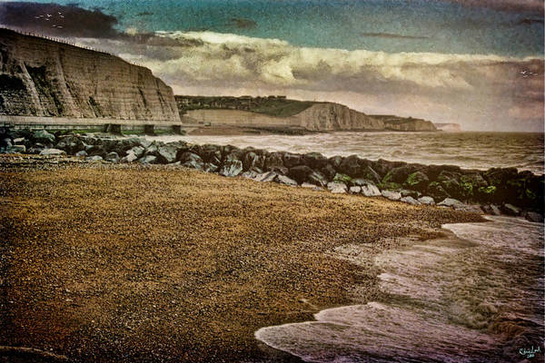 Photograph - Beach And Cliffs At Rottingdean by Chris Lord