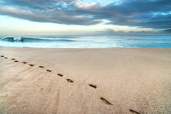 Wall Art - Photograph - Beach-break Footprints. by Sean Davey