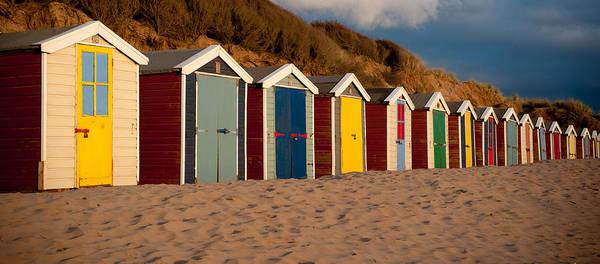 Photograph - Beach Huts II by Helen Northcott