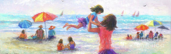Wall Art - Painting - Beach Joy by Vickie Wade