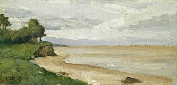 Painting - Beach Near Etretat by Jean Baptiste-Camille Corot